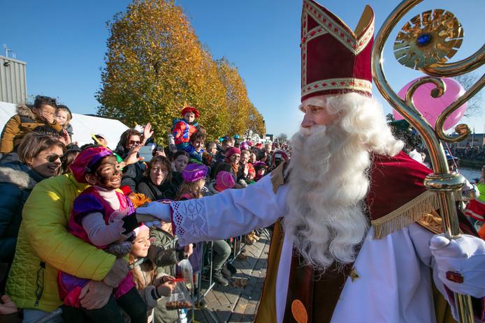 Eindhoven Sinterklaas komt aan in 2018.