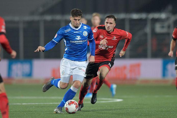 Ruben Rodrigues (links) scoorde vroeg, maar viel net als heel FC Den Bosch na rust ver terug.
