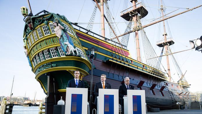 Rob Wainwright, minister Ard van der Steur en Dimitris Avramopoulos tijdens de lancering van het European Counter Terrorist Center (ECTC) van Europol