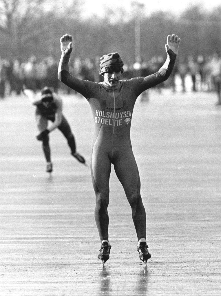 Evert van Benthem op het ijs in 1986. Beeld anp
