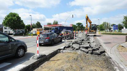 Zware hinder door werken op Leuvensesteenweg