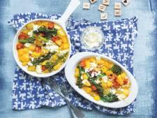 Wat Eten We Vandaag: Aardappeltortilla met chorizo en avocado-sinaasappelsalade