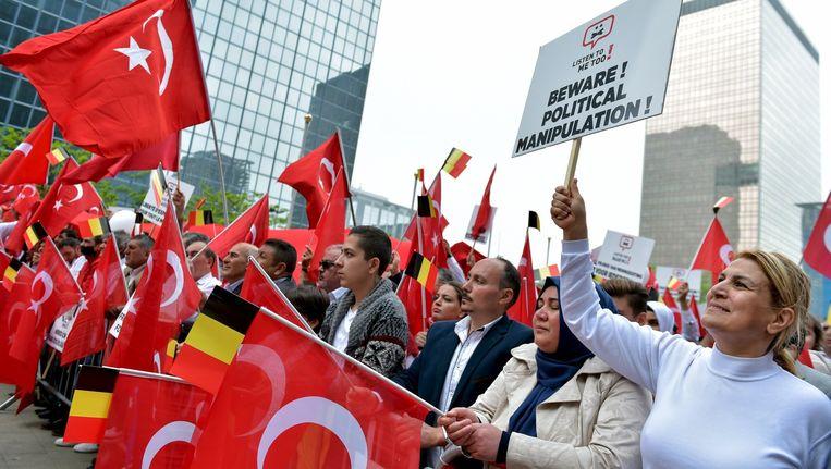 Betoging tegen de erkenning van de Armeense genocide in Brussel (archiefbeeld).