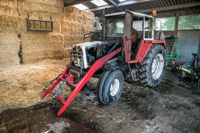 De tractor is total loss
