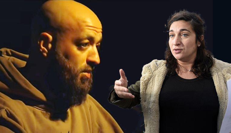 Een van de moslimpredikers, ex-rapper Abid Tounssi. Zuhal Demir (N-VA) reageerde woedend nadat ze aflevering in 'Nieuwsuur' zag. Op zijn beurt haalt Tounssi nu uit naar de staatssecretaris.