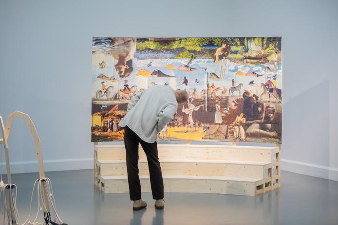 Beeld van de tentoonstelling 'Positions #5' in Van Abbemuseum.