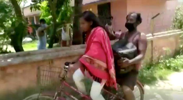 Jyoti Kumari et son père.