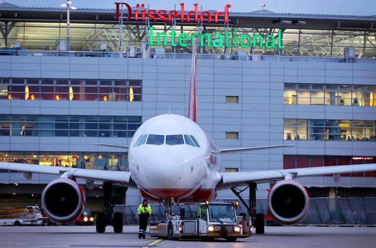 De luchthaven van Düsseldorf.