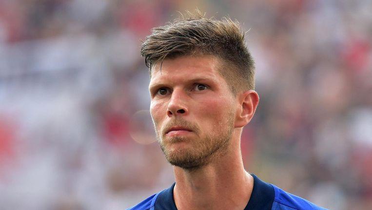 Klaas Jan Huntelaar als basisspeler bij Schalke 04 tegen Eintracht Frankfurt aan het begin van dit seizoen. Beeld Pro Shots