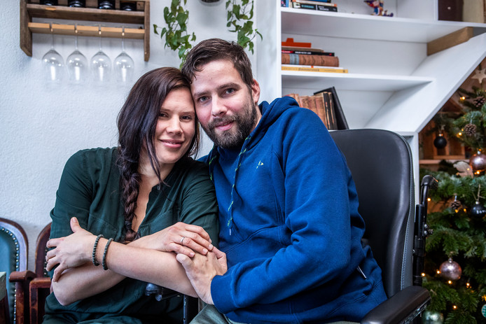 Sascha Groen met de liefde van haar leven: Anjo Snijders.