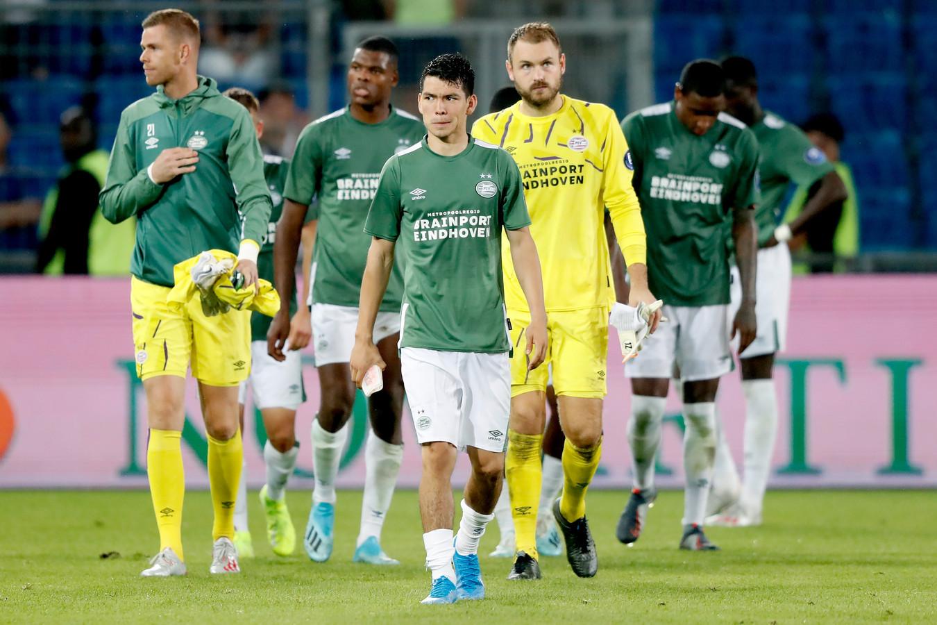 De PSV'ers blijven dit seizoen verstoken van Champions League-voetbal.