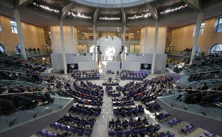 Het Duitse parlement de Bondsdag. Beeld reuters
