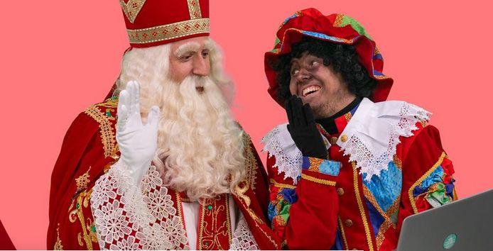 Sinterklaas en piet.