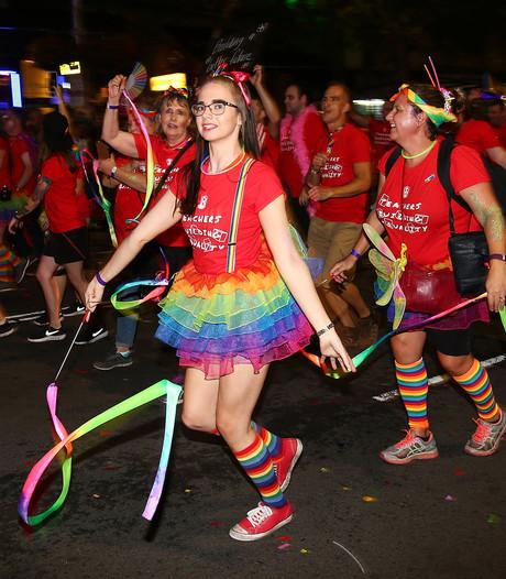 Mardi Gras parade in Sydney groot feest
