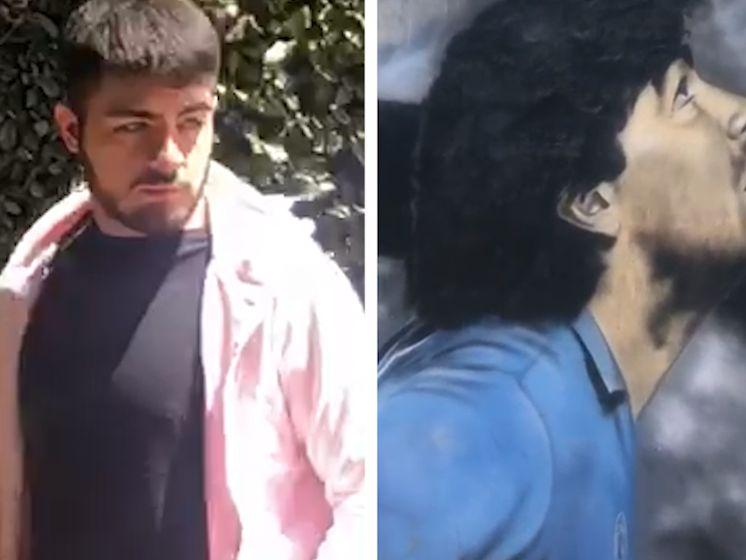Bastaardzoon Maradona bezoekt graf van zijn vader