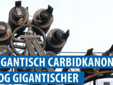 Oorverdovend! Is dit carbidkanon van 61 melkbussen in Emmen het grootste van Europa?