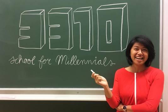 Man belooft: tijdens de cursussen geen klassiek schoolbord met krijt
