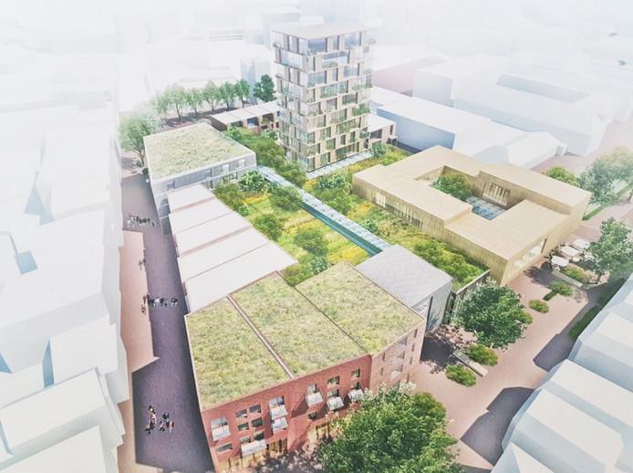Centrumplan Wal Kwartier, met rechts het UIThuis.