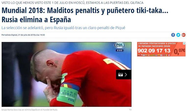 """Verdomde penalty's en vervloekt tiki-takak... Rusland elimineert Spanje"""