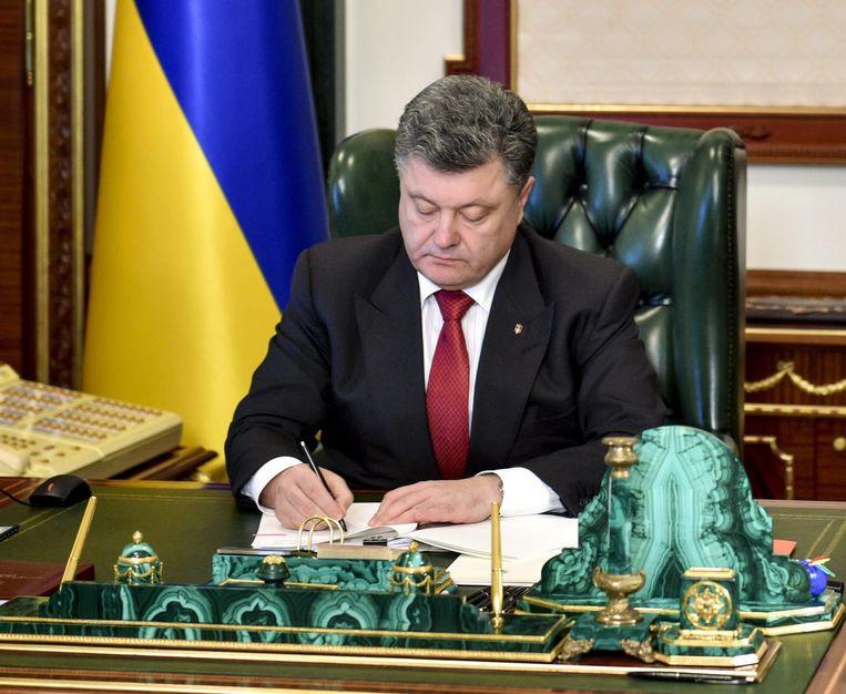 De Oekraïense president Petro Porosjenko, eerder deze maand. Beeld epa