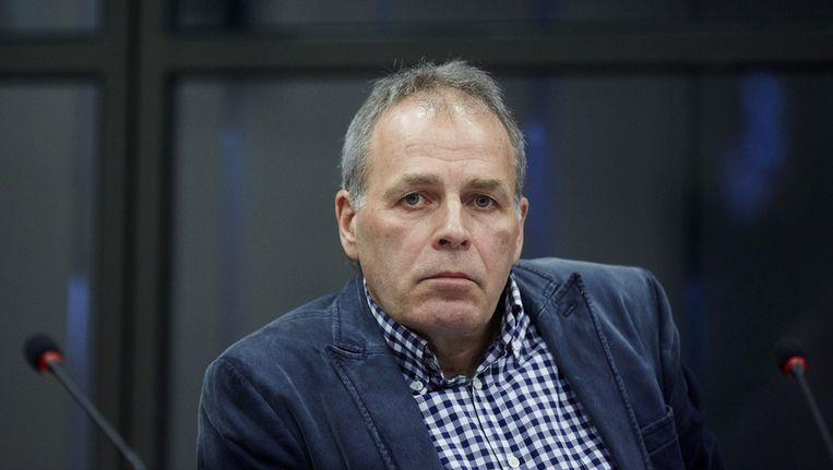 Directeur Gerard Dielessen van NOC*NSF tijdens het rondetafelgesprek in de Tweede Kamer over de antihomowetgeving in Rusland. Beeld anp