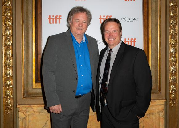 epa07011520 Rick (L) and Mark Armstrong arrive for the screening of the movie 'First Man' during the 43rd annual Toronto International Film Festival (TIFF) in Toronto, Canada, 10 September 2018.  EPA/WARREN TODA