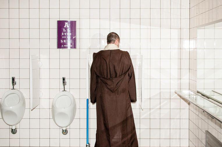 Jedi op de wc. Beeld null