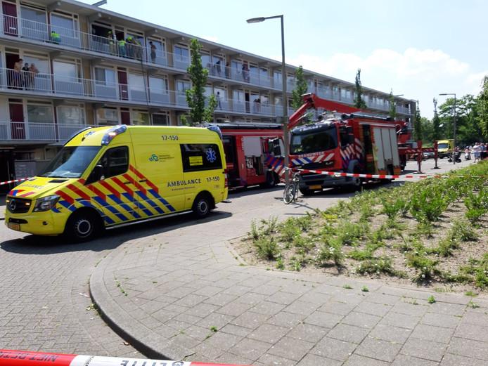 Bij een keukenbrand in Rotterdam Alexander raakte één persoon gewond.