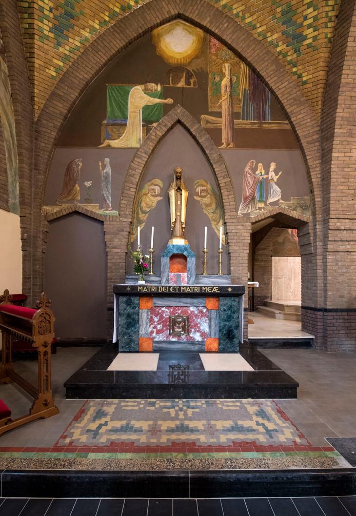 De Beltrumse kerk heeft muurschilderingen van grote kunsthistorische waarde.