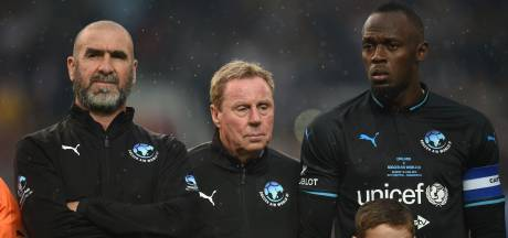 Van der Sar, Cantona, Verón, Farah en Bolt schitteren bij Soccer Aid