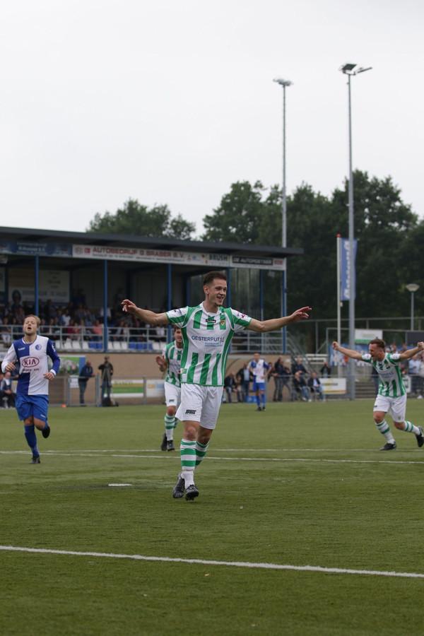 Maarten van Vooren maakte de 0-1 namens Kloetinge bij DTS Ede.