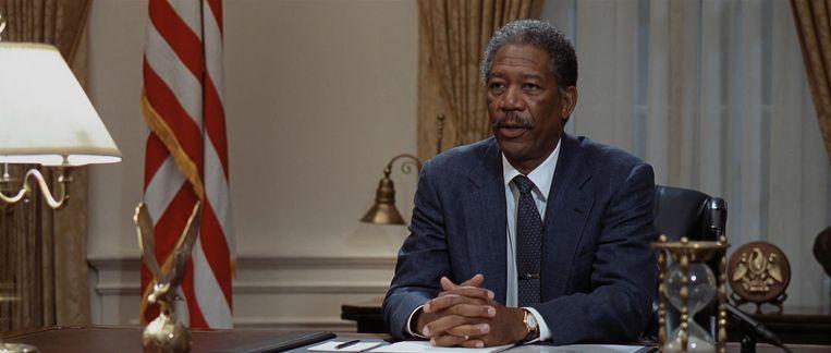 Morgan Freeman in Deep Impact, 1998. Beeld