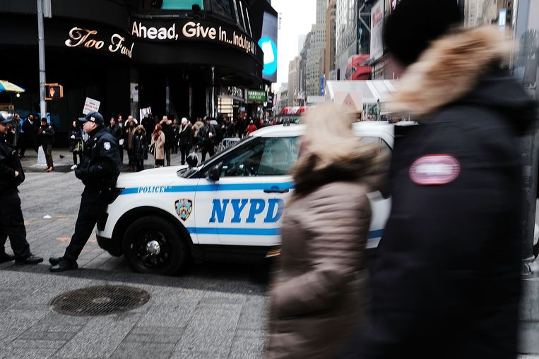 Times Square een dag na de mislukte bomaanslag.
