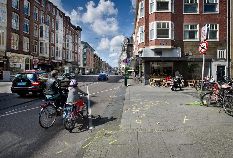 De plaats van het ongeluk Beeld Klaas Fopma