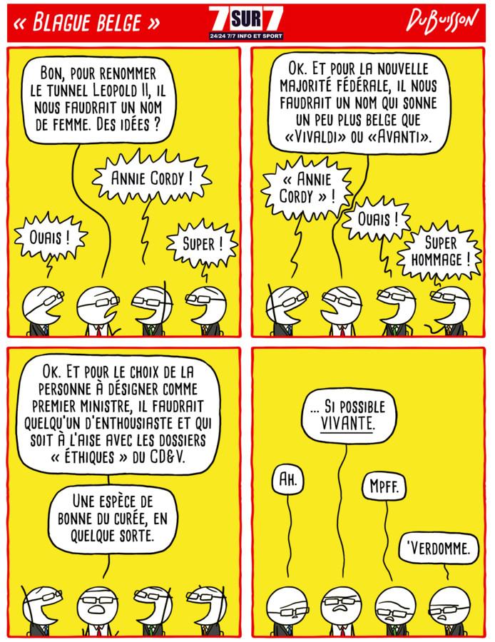 """Blague belge"", 7 septembre 2020"