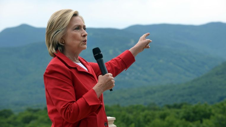 Hillary Clinton op campagne