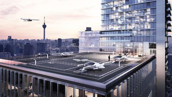 Zo kan de start- en landingsplaats van de Lilium Jet eruit gaan zien