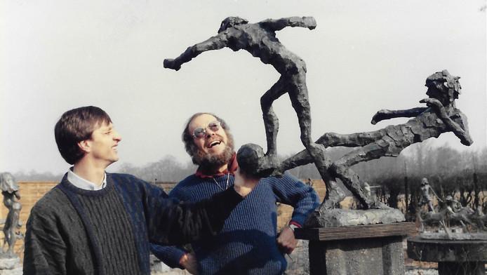 Johan Cruijff samen met Jits bakker