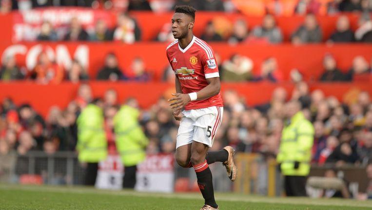 Louis van Gaal liet Timothy Fosu-Mensah debuteren bij Manchester United. Beeld afp