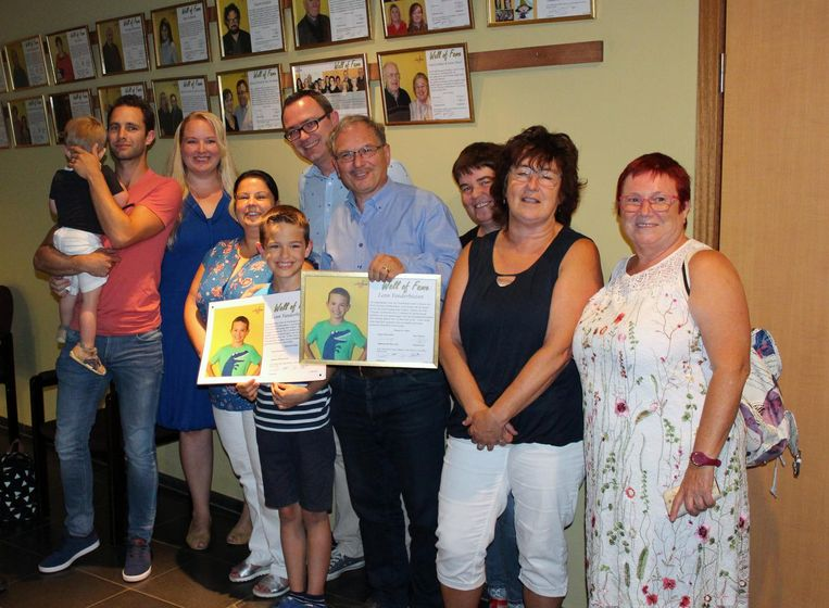 Lenn Vanderbiesen is de jongste laureaat ooit voor de Linterse 'Wall of fame'.