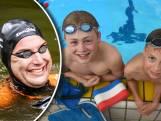Imme en Jonas zwommen met Van der Weijden mee: 'Ik dacht de hele tijd: sneller zwemmen'