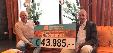 De opbrengst van 'Colmschate loopt voor KIKA' die nooit gelopen werd: 43.985 euro