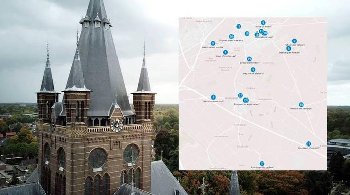 21 prikken op de Politieke Kaart van Oisterwijk
