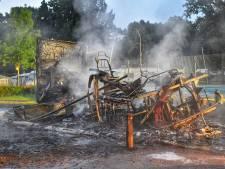 Camper op camping in Soerendonk verwoest door brand