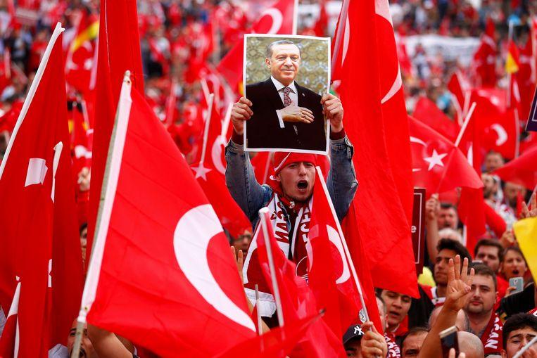 Sinds president Erdogan president is, is de toenadering tot de EU in het slop gekomen. Beeld REUTERS