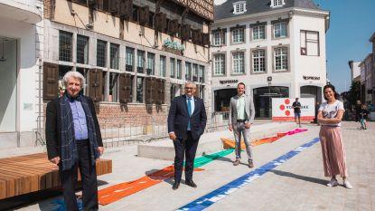 Kunstwerk 'Het Waterpad' ingehuldigd op vernieuwde Grote Markt