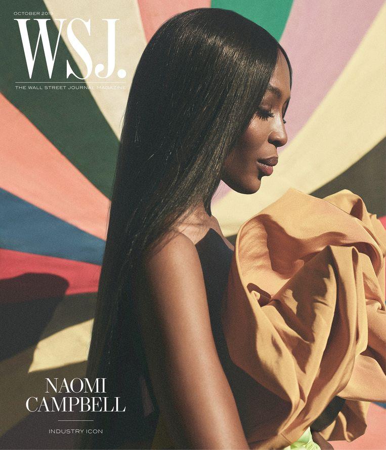 Naomi Campbell op de cover van het magazine van The Wall Street Journal.  Beeld Annemarieke van Drimmelen