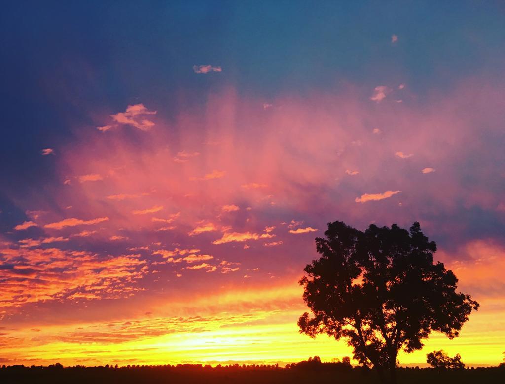 Zonsondergang boven Rouveen