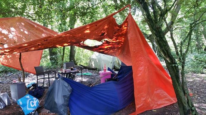 Het tentenkamp in Vught.