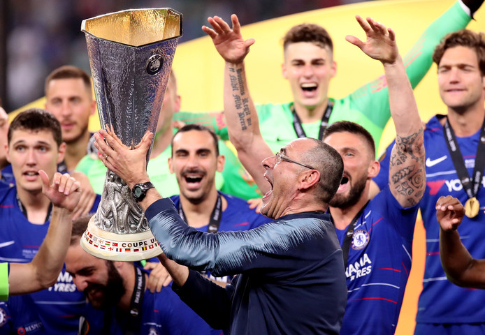 Sarri met de Europa League.